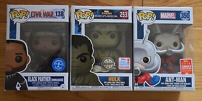 Marvel Funko Pop Vinyl bundle BNIB, Black Panther, Hulk and Ant-Man