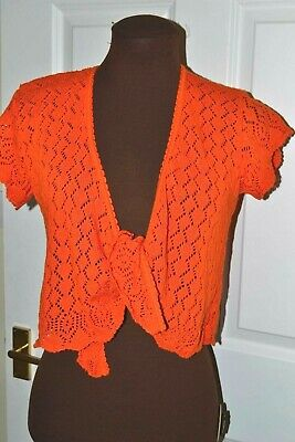 Girls Age 8-10 Wrap over Knitted Bolero Top