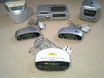Job Lot #19 of SIX Roberts Radio/Clock Radios/Cassette - see ad for full listing