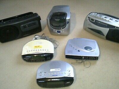 Job Lot #13 of SIX Roberts Radio/Clock Radios/Cassette - see ad for full listing