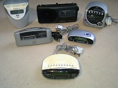 Job Lot #20 of SIX Roberts Radio/Clock Radios - see ad for full listing