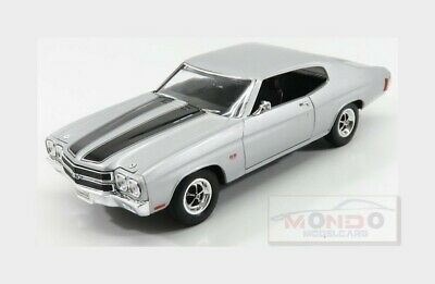 Chevrolet Chevelle Ss 454 Coupe 1970 Silver Black WELLY 1:18 WE19855S Miniature