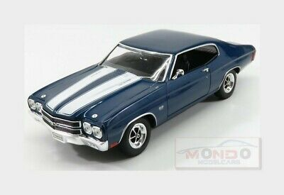 Chevrolet Chevelle Ss 454 Coupe 1970 Blue White WELLY 1:18 WE19855BL Miniature