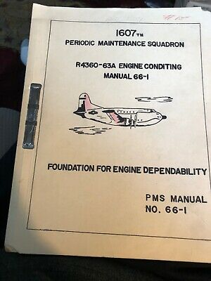 Vintage 1958 Dover Air Force Base Periodic Maint Squadron Manual