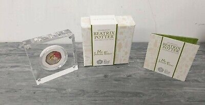 Beatrix Potter Mr. Jeremy Fisher 2017 UK 50p Silver Proof Coin and Box With COA