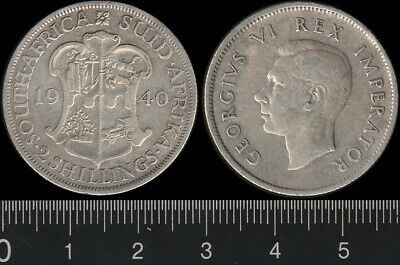 South Africa: 1940 2/- King George VI KGVI Two Shillings