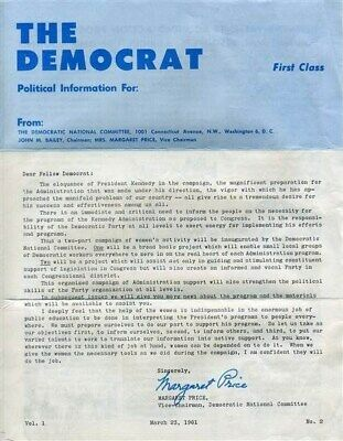 The Democrat 1961 President John F Kennedy  Democratic Political Information