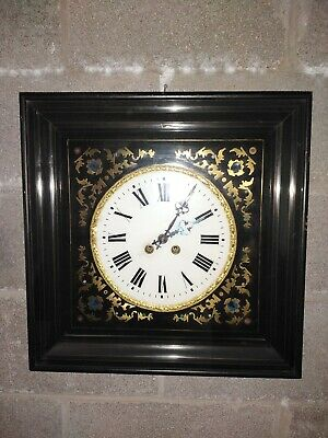 Antique French Stricking Vineyard Wall Clock