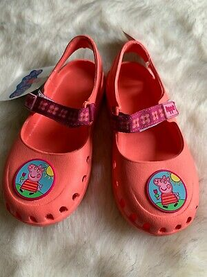 BNWT Marks And Spencer Girls Size Infant 10 Peppa Pig Beach Holiday Shoes