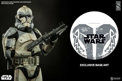 Star Wars Sideshow Collectibles Exclusive Wolfpack Clone Trooper 1/6 Figure.