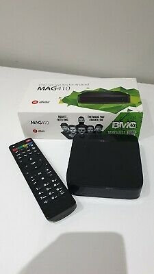 Infomir MAG410 UHD IPTV Set Box Android 4K HEVC Support built-in Wi-Fi