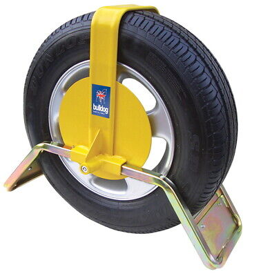 """Bulldog TQD34 WHEEL CLAMP, INSURANCE APPROVED SUITS: 13"""" Steel Wheels 185/70 R13"""