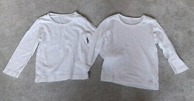 x2 Boys Girls Unisex Mothercare Long Sleeved Vests Bundle 18-24 Months 1.5-2 Y