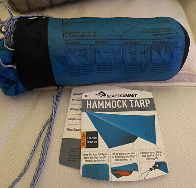 Teal Blue Camping Hammock Tarp 11.8 x 9.2 ft - Used Once