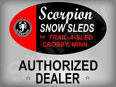 """Scorpion Authorized Dealer  Metal Sign 9"""" x 12"""" or 12"""" x 16"""""""