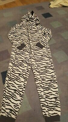 Zebra Fleece All In One Pyjamas Age 11-12