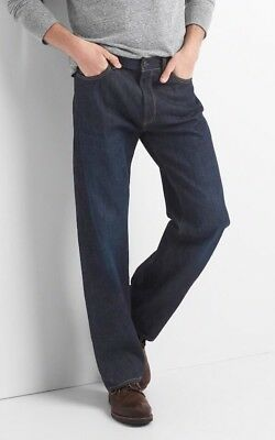 NWT Gap Jeans in Relaxed Fit, Dark Resin, 38x32
