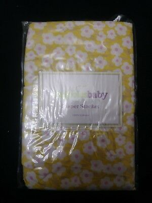 Midwest CBK Dandelion Wishes Diaper Stacker yellow green bee nwt