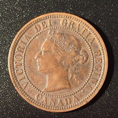 1876 H CANADA LARGE CENT PENNY 1 CENT Canadian