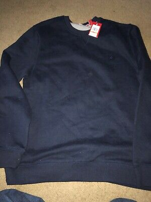 IZOD MENS SUEDED FLEECE CREW NECK SWEAT SHIRT NEW WITH TAG MD