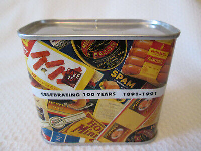 HORMEL SPAM 100th Anniversary Collectible Tin  Bank 1891-1991