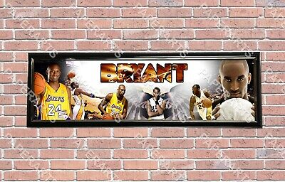 Personalized Customized NBA Kobe Bryant Name Poster Sport Banner with Frame