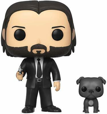Funko Pop! Movies John Wick Action Figure John Wick in Black Suit with Dog Buddy