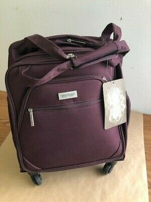 New York Chocolate Travel 18 Inch Spinner Carry-On Wheeled Luggage (Burgandy)