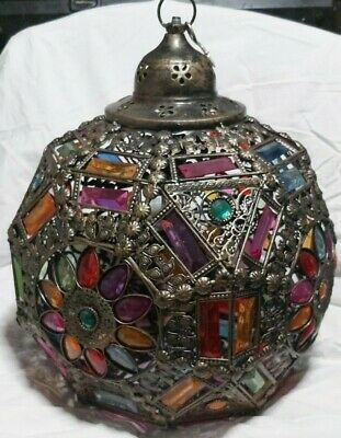 Large  Ethnic / Turkish / Moroccan  Ceiling  Light Shade Round , Floral Design
