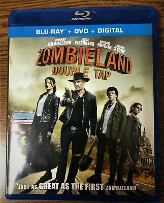 Zombieland Double Tap 2019 BLURAY ONLY+CASE + ARTWORK+SLIPCOVER (NO DVD OR DIGIT