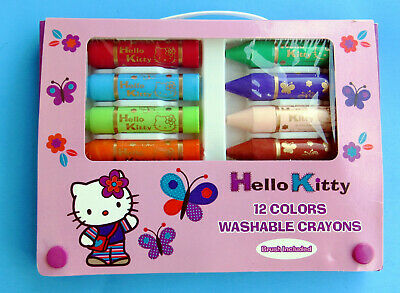 Sanrio 56728 Hello Kitty 12 Colors Washable Crayons