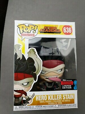 Funko Pop Hero Killer Stain My Hero Academia NYCC 2019 Shared Exclusive Anime