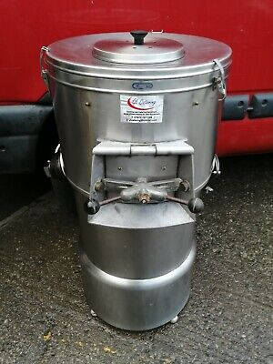 """Stainless Steel 1/2 Sack Potato Rumbler / Peeler """" Had Turn Table Re Gritted """"."""