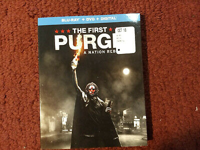 THE FIRST PURGE: A NATION REBORN (Bluray, DVD, & Digital, 2018) w/ slipcover NEW
