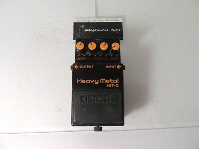 Vintage Boss HM-2 Heavy Metal Distortion Effects Pedal Free USA Shipping