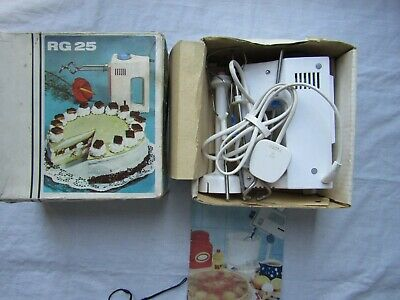 VINTAGE RG 25 ELECTRIC HAND MIXER DDR or GDR manufacture Excellent Boxed instruc