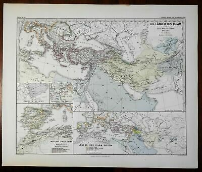 Seljuk Empire Islam Middle East Fatimid Caliphate Spruner 1877 historical map