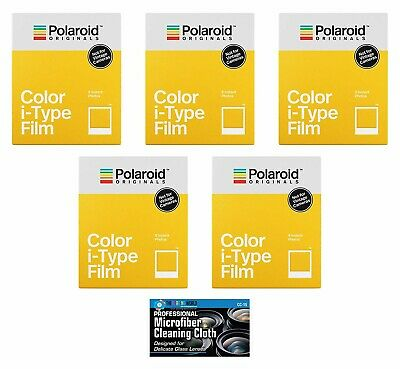 Polaroid Originals Color Glossy Instant Film for i-Type OneStep2 Cameras- 5 Pack