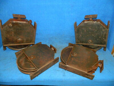 4 Vintage Large Sliding Door Rollers from WW2 B-24 Airplane Hanger
