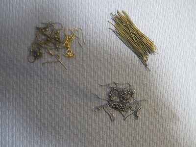 Assorted Antique Gold & Bronze & Black Earring Head Pins and earring hooks USA
