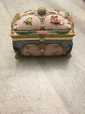 "Disney Little Mermaid ""Kiss the Girl"" Music Trinket Jewelry Box Vintage 1988"