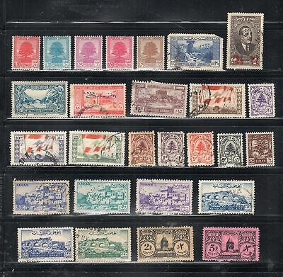 Liban Lebanon Middle East Stamps  Used & Mint Hinged Lot 10858