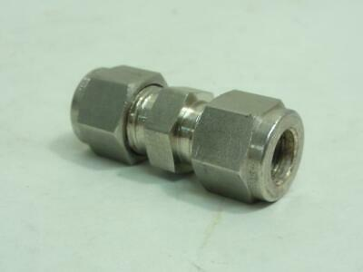 """164869 New-No Box, Swagelok SS-600-6 Compression Fitting, SS-316, Straight, 3/8"""""""