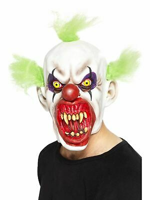 Smiffy/'s Sinister Clown Mask Halloween Fancy Dress Evil Scary Horror Rubber