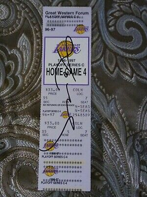 (1/1)*KOBE BRYANT*Autographed*Hand Signed '96-97 Rookie Year Playoff Ticket*RARE