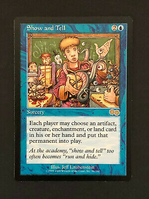 4x Show and Tell Urza's Saga Mtg 3 are NM