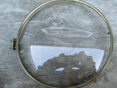 A Smiths Brass Mantel Clock Bezel And Convex Glass  With Its Case Catch