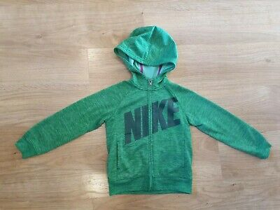 Nike Girls Hoodie green therma fit zip through Age 5 4-5 years