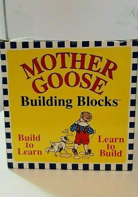 1995-Mother Goose Nesting Blocks Alphabet,#'s,Rhymes & Illustrations-Ages 2 & Up