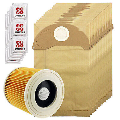 15 Dust Bags Filter + Fresh for KARCHER IPX4 MV2 WD2200 WD2240 WD2250 Vacuum